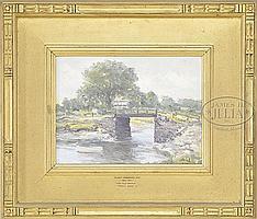"HENRY HAMMOND AHL (American, 1869-1953) THE OLD BRIDGE, IPSWICH, MASS."""