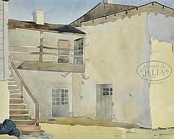 """JAMES FITZGERALD (American, 1899-1971) """"STAIRS TO HOUSE"""""""