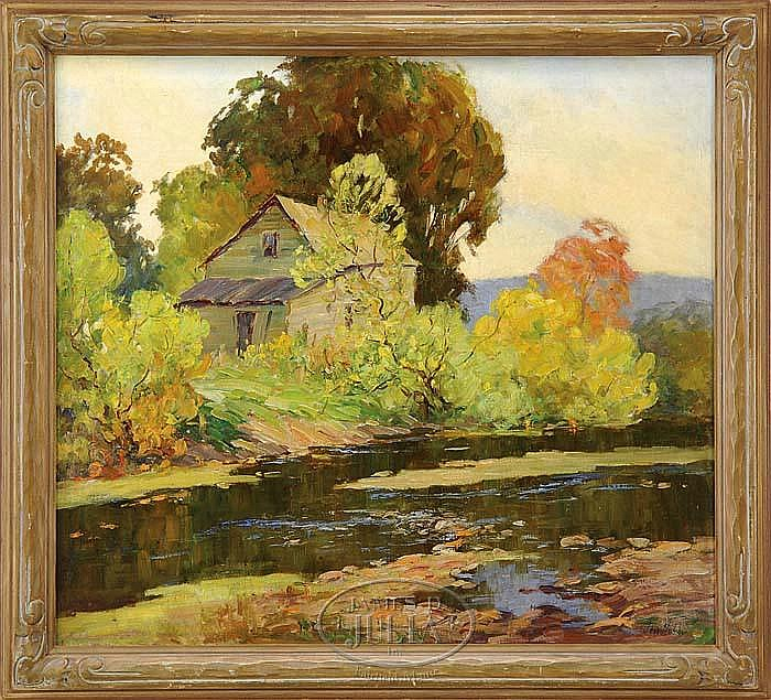 JESS HOBBY (American 1871-1938) HOUSE BY