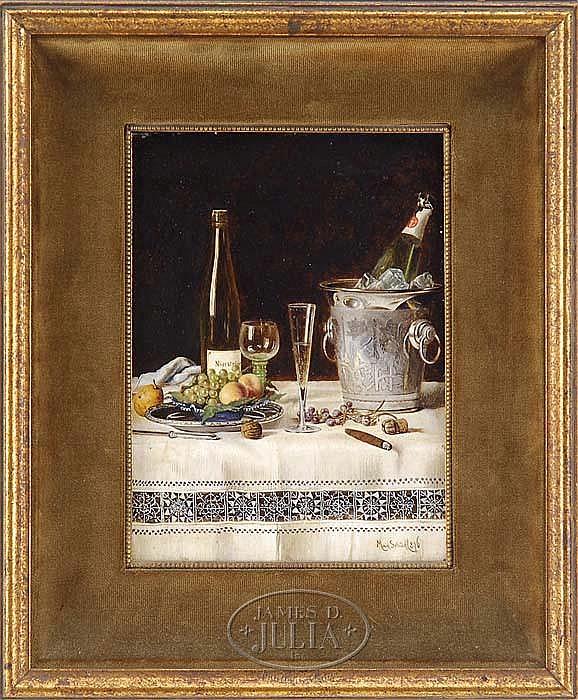 MAX SCHODL (Austrian 1834-1921) STILL LIFE