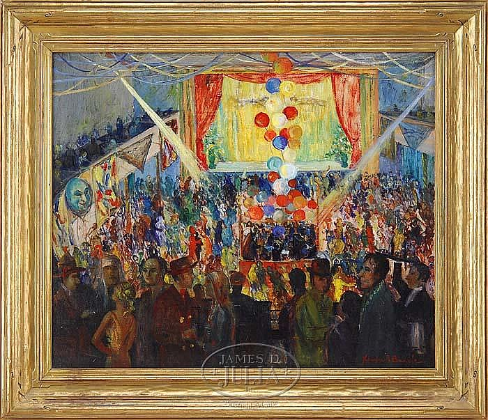 XAVIER J BARILE (American 1891-1981) PARTY AT