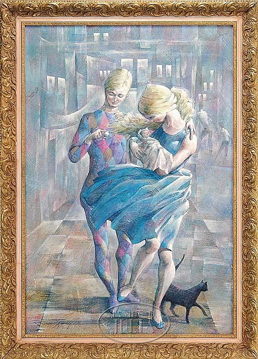 RAYMOND HOWELL (American 1927-) BLACK CAT.