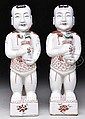 PAIR OF CHINESE EXPORT PORCELAIN FIGURES.