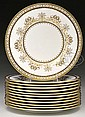 OUTSTANDING SET OF MINTONS GOLD DECORATED SERVICE PLATES.