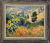 "ANTON DAHL (AMERICAN, 1894 - 1967) ""WILD SUN FLOWERS""."