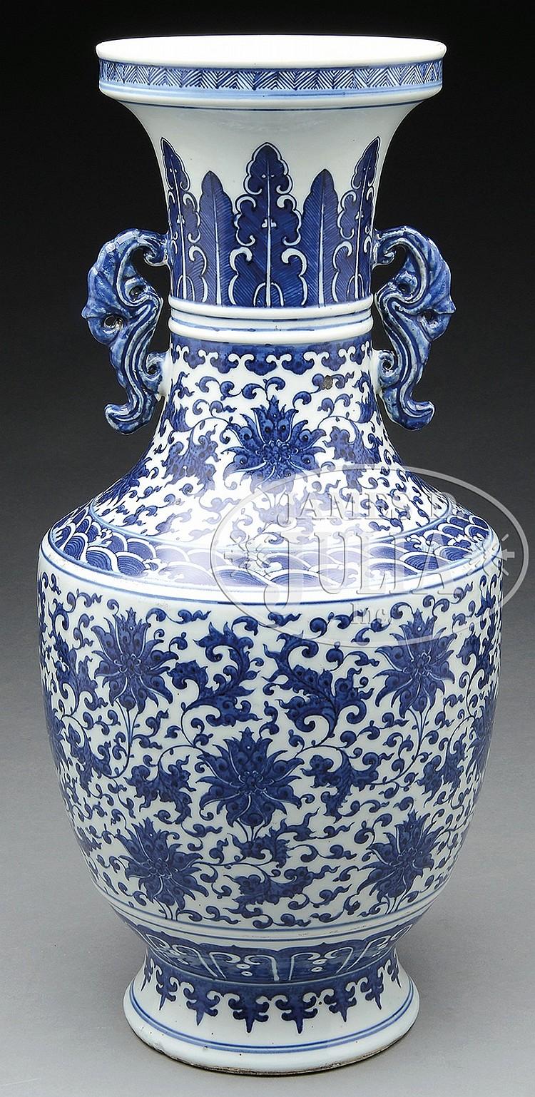 large blue and white lotus vase. Black Bedroom Furniture Sets. Home Design Ideas