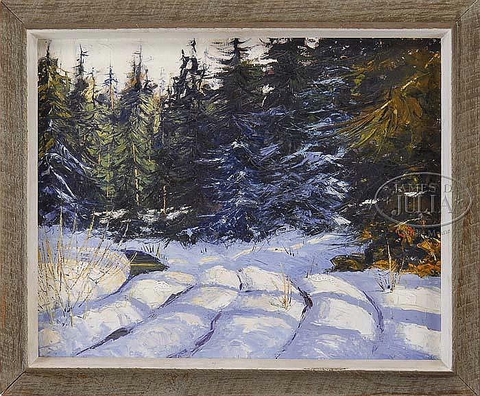 GEORGE CARPENTER (American, 1928-2006) MAINE WINTER.