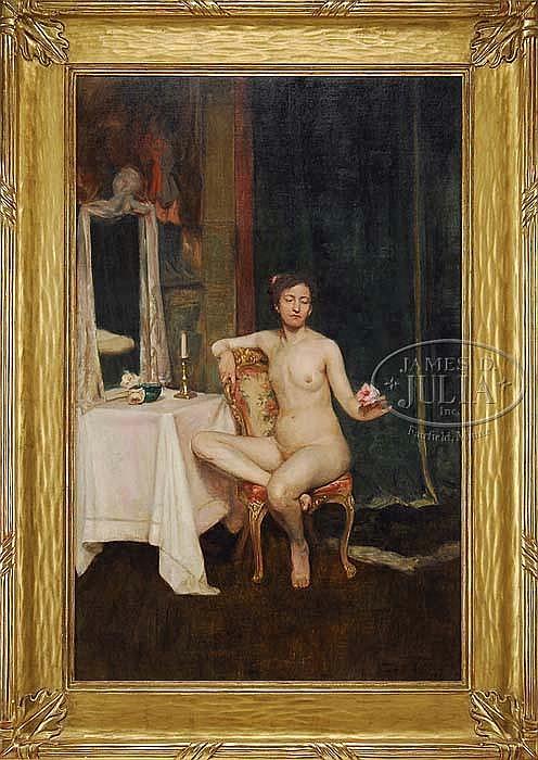 EDWARD BARNARD LINTOTT (American, 1875-1951) THE PINK ROSE.