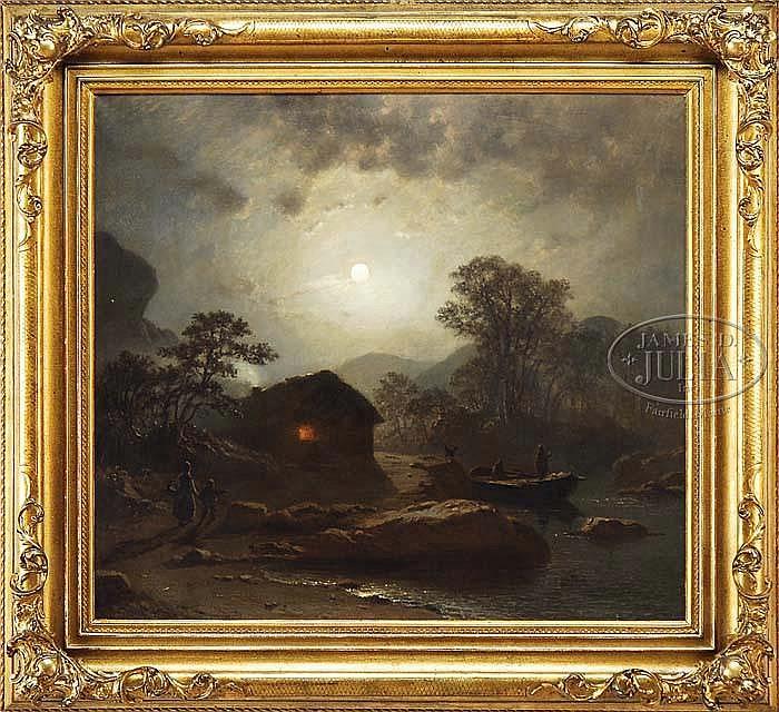 KNUD ANDREASSEN BAADE (Norwegian, 1801-1879) EVENING GLOW.