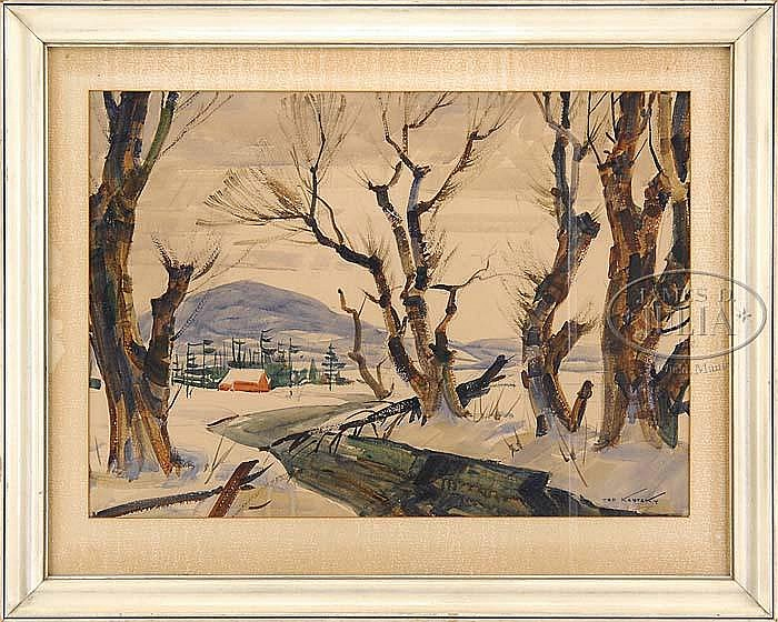 TED KAUTZKY (American, 1896-1953) WINTER SKETCH.