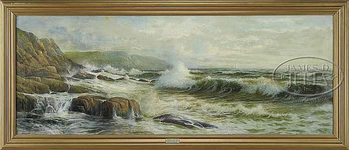 GEORGE HOWELL GAY (American, 1858-1931) SEASCAPE-HEAVY SURF.