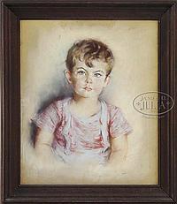 ELEANOR REVERE WEEDEN (American, 1898-1984) PORTRAIT OF WILLIAM LANCASTER.