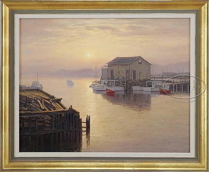 JOSEPH M ARENTZ (AMERICAN, 1903-1969) SUNRISE OVER THE INLET.