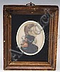 EZRA AMES (AMERICAN, 1768 - 1836) MINIATURE PORTRAIT ON PAPER OF MILITARY OFFICER., Ezra Ames, Click for value