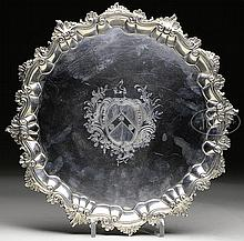 VERY FINE LONDON STERLING SALVER BY WILLIAM PEASTON (1752).