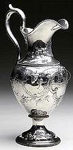 BOSTON COIN SILVER EWER BY LINCOLN & FOSS.