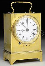 FRENCH CAPUCINE FORM TRAVEL CLOCK.