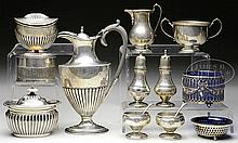 13 PIECES OF STERLING HOLLOWWARE.