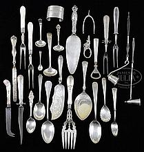 26 PCS STERLING & STERLING HANDLED ITEMS.