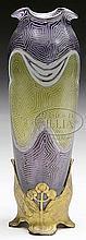 AUSTRIAN JUGENDSTIL ART GLASS VASE.