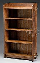 L & JG STICKLEY OAK BOOKCASE.