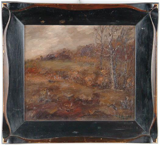 WILLIAM GEORGE REINDEL (American, 1871-1948) IMPRESSIONISTIC LANDSCAPE