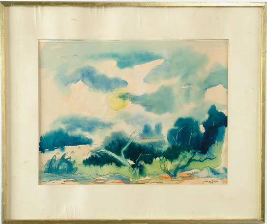"GEORGE AYERS CRESS (American, 1921-) ""GEORGIA LANDSCAPE"""