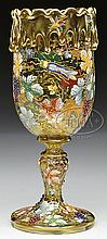 MOSER DECORATED CHALICE.
