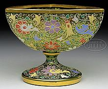 MOSER DECORATED BOWL.