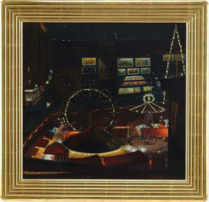 VADIM CHERNOFF (American, 1888-1954) CITY CIRCUS