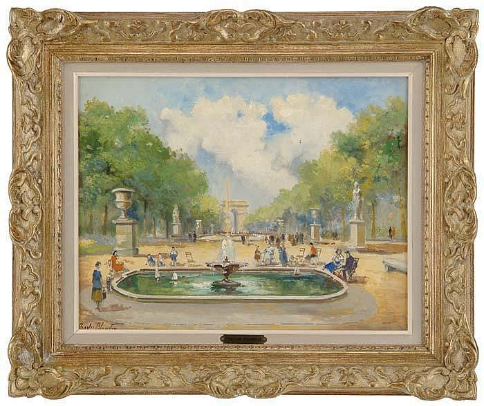 CHARLES BLONDIN (French, 1824-1897) PARIS PARK SCENE