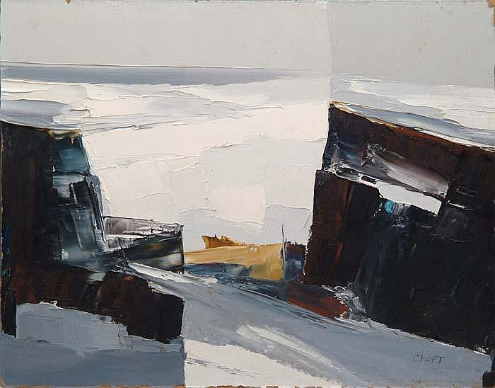 LEWIS SCOTT CROFT (American, 1911-1980) THREE ABSTRACT WORKS