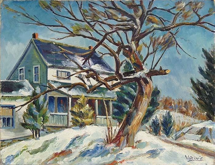MARKO VUKOVIC (Yugoslavian/American, 1892-1973) WINTER SALTBOX
