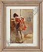 BRUNO CARUSO (Italian 1927-) GIRL AT WINDOW, Bruno Caruso, Click for value