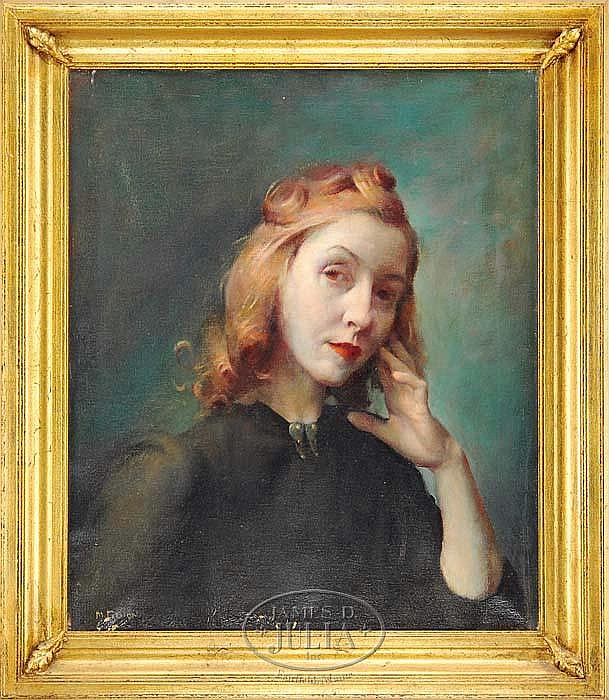 MOLLY GUION (American 1910-1982) PORTRAIT OF