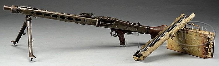 GERMAN MG42 MACHINE GUN DEWAT CAPTURED FROM 6TH SS DIVISIO