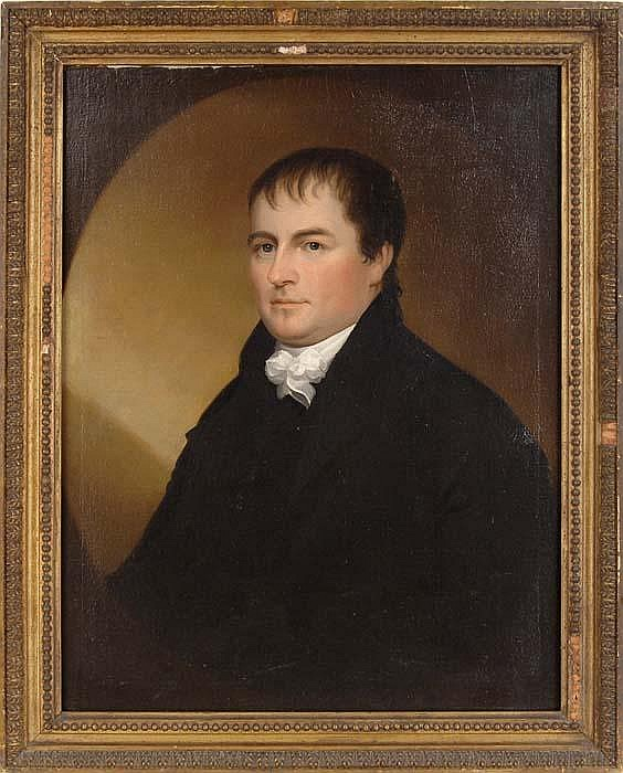 EZRA AMES (American, 1768-1836) PORTRAIT OF A GENTLEMAN