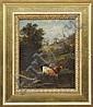 SCOTT LEIGHTON (American, 1849-1898) COWS AT HILLSIDE POOL., Scott Leighton, Click for value