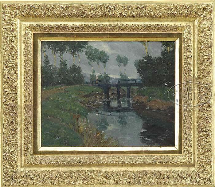 NORWOOD HODGE MACGILVARY (American, 1874-1950) RIVER REFLECTIONS.