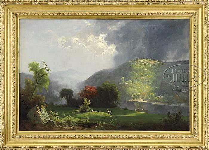 WILLIAM G. BOARDMAN (American, 1815-1895) AFTER THE SQUALL.