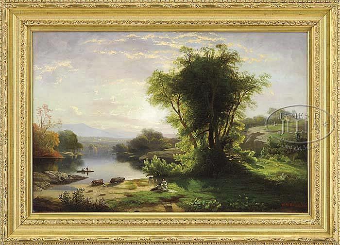 WILLIAM G. BOARDMAN (American, 1815-1895) AFTERNOON PICNIC.