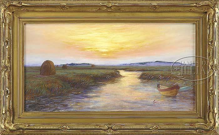 GEORGE WAINWRIGHT HARVEY (American, 1855-1930) ESSEX MARSHES.