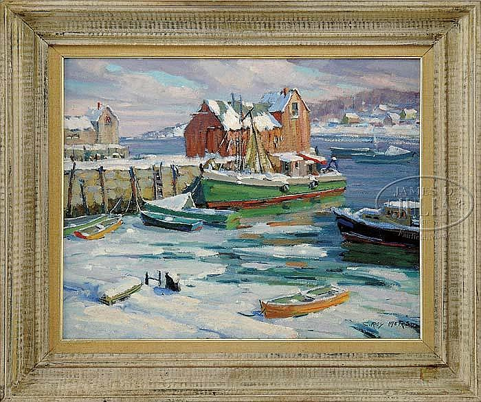 C. ROY MORSE (American, 1913-) MOTIF #1 IN WINTER.