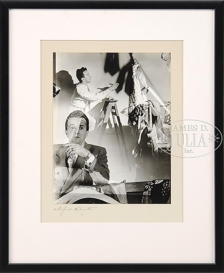 ALFREDO VALENTE (American, 1899-1973) TWO FRAMED PHOTOGRAPHS.