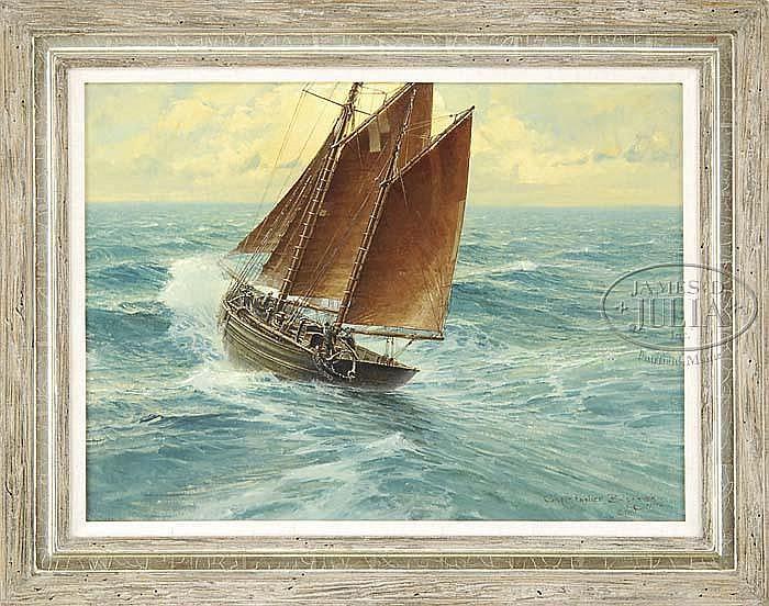 CHRISTOPHER BLOSSOM (American, 1956-) THE OPEN SEA.