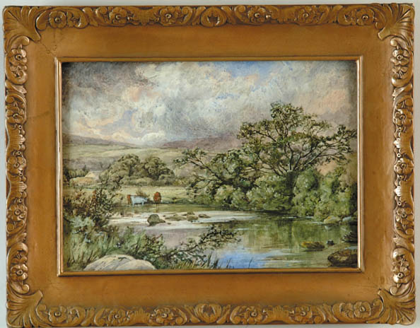 WILLIAM HERBERT ALLEN (British, 1863-) ENGLISH LANDSCAPE WITH COWS