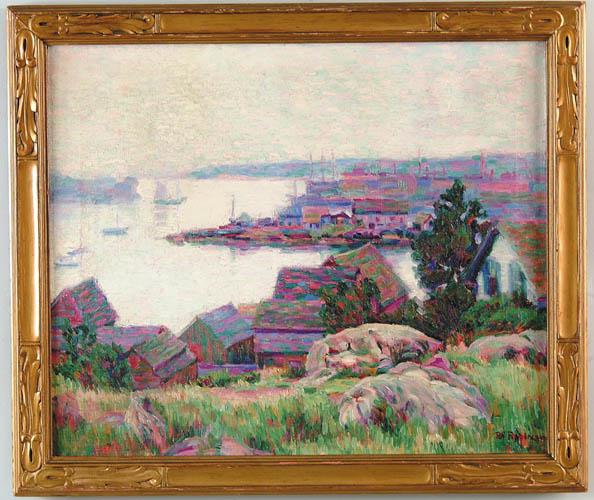 BOARDMAN MICHAEL ROBINSON (American, 1876-1952) TEN POUND ISLAND, GLOUCESTER HARBOR