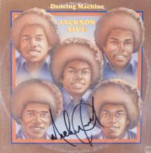 MICHAEL JACKSON SIGNED DANCING MACHINE ALBUM