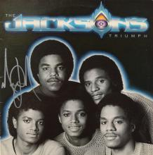 MICHAEL JACKSON SIGNED TRIUMPH ALBUM