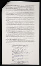 THE JACKSONS SIGNED SONGWRITER CONTRACT